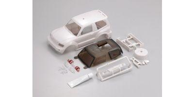 三菱パジェロショートホワイトボディセット(未塗装)  MVB01