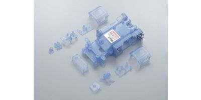 Skeleton Chassis Set(Clear Blue/MR-015) MZF151CB