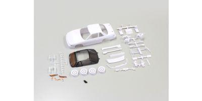 日産シルビアS13ホワイトボディセット(未塗装/ホイール付) MZN178