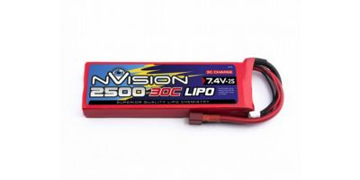 nVision LiPo 7.4V-2500 (30C) Deansプラグ NVO1804