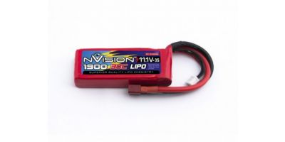 nVision LiPo 11.1V-1900 (30C) Deansプラグ NVO1809