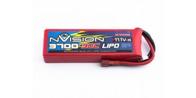 nVision LiPo 11.1V-3700 (30C) Deansプラグ NVO1813