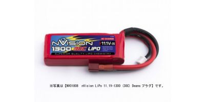 nVision LiPo 11.1V-1600 (30C) Deansプラグ NVO1819