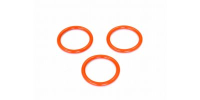 シリコンOリング(P18/オレンジ/3Pcs)  ORG18