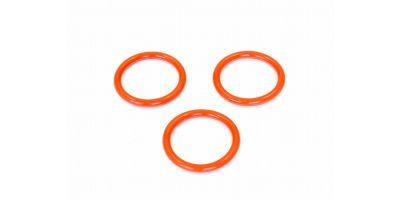 Silicone O-Ring (P18/Orange/3Pcs) ORG18