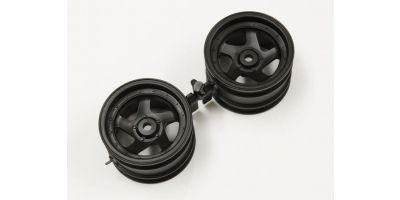 5sp Wheel 43mm (Black/2pcs/OPTIMA) OTH244BK