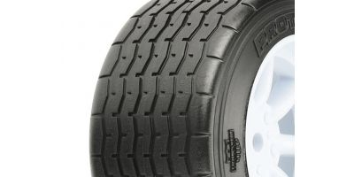 VTA Rear Tires Mounted on White Wheels PL-10139-17