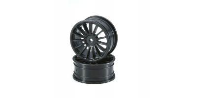 Wheel(15-Spoke/Black/24mm/2pcs) VZH003BK