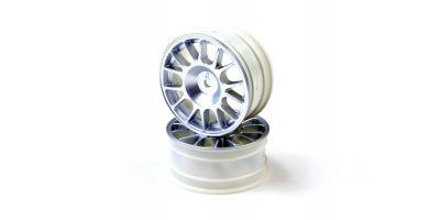 Wheel (14-Spoke/Chrome/24mm/2pcs) VZH008CM