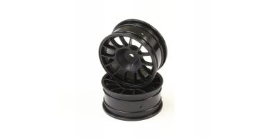 Wheel(14-Spoke/Black/Offset4mm/24mm/2p) VZH009BK