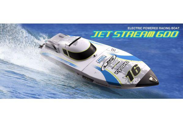 ラジオコントロール電動ボート EP ジェットストリーム 600 カラータイプ2 レディセット USB充電器付 40132T2U