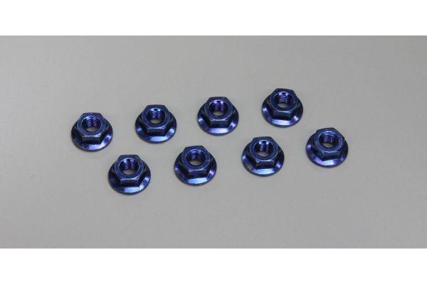 ナット(M4x4.5) フランジ (スチール/ブルー/8入)  1-N4045F-B