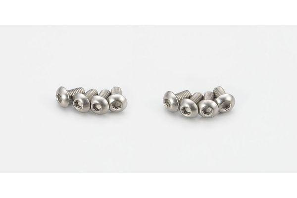 Button Screw(Hex/Titanium/M3x6/8pcs) 1-S13006HT