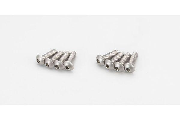 Button Screw(Hex/Titanium/M3x10/8pcs) 1-S13010HT