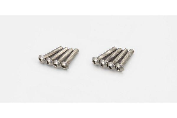 ボタンビス(M3x15) (ヘックス/チタン/8入)  1-S13015HT