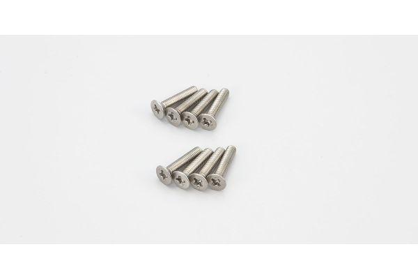 Flat Head Screw(Titanium/M3x15/8pcs) 1-S33015T