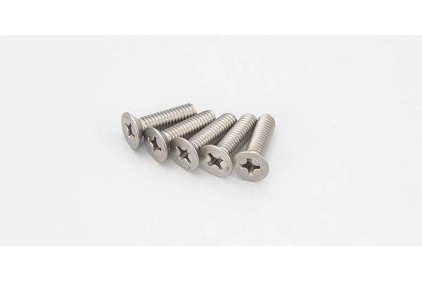 Flat Head Screw(Titanium/M4x15/5pcs) 1-S34015T