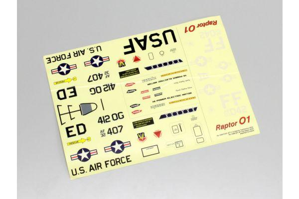 Decal (F-22 Raptor DF55) 10281R-03