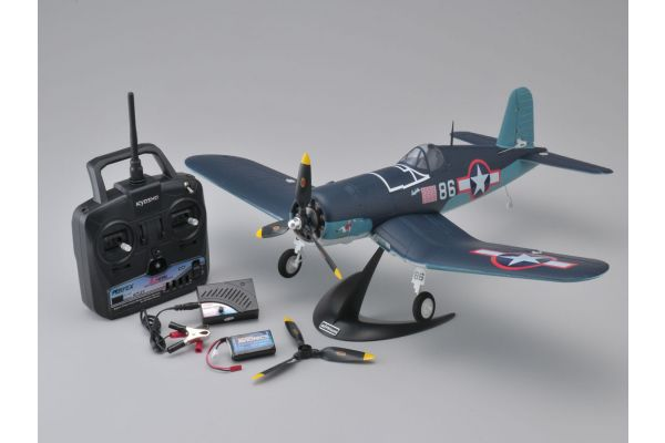 1/19 Size Super Scale Flying Model aiRium F4U CORSAIR VE29 readyset with battery and charger 10954RSBC