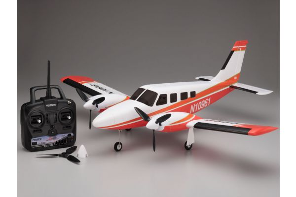 900mm Size Super Scale Flying Model PIPER PA34 VE29Twin readyset with battery and charger<Red> 10961RSBC-R