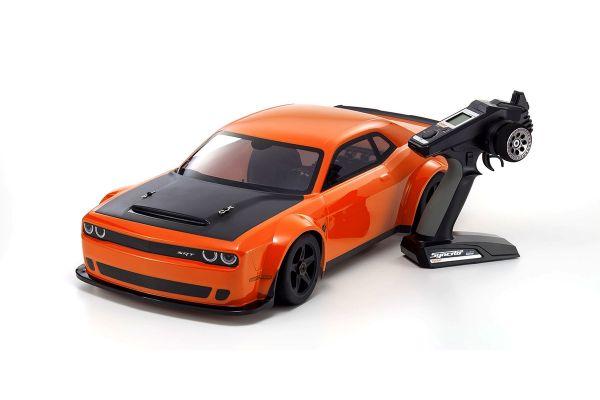 INFERNO GT2 VE RACE SPEC 2018 Dodge Challenger SRT Demon Go Mango w/KT-331P 1/8 EP 4WD Readyset RTR 34107