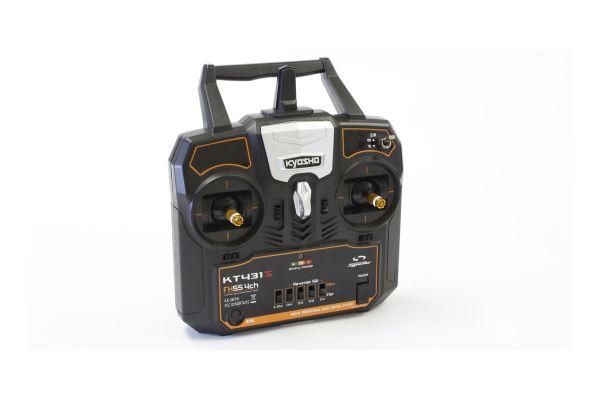 2.4GHz デジタルプロポーショナルラジオコントロールシステム シンクロ KT-431S 4ch Tx/Rxセット(モード1) 京商オンラインショップ限定の電波テスト使用品につき特別価格で販売中(通常価格:税抜13,000円)