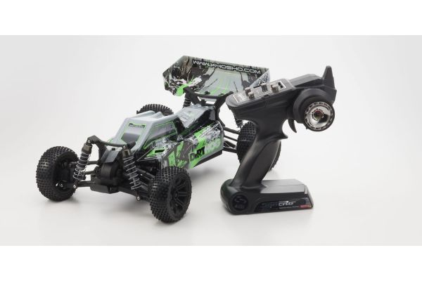 Electric Powered R/C 4WD Racing Buggy EP Fazer Dirthog Readyset with T2 Green KT-200 Transmitter 30993T2