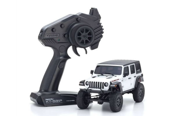 Radio Controlled Electric Powered Crawling car MINI-Z 4×4 Series Readyset JeepⓇ Wrangler Unlimited Rubicon Bright White 32521W