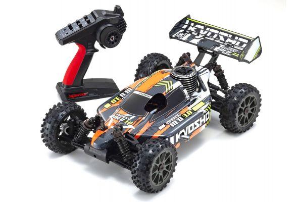 1/8スケール ラジオコントロール 21エンジン 4WDレーシングバギー レディセット インファーノ NEO 3.0 カラータイプ3 オレンジ 33012T3