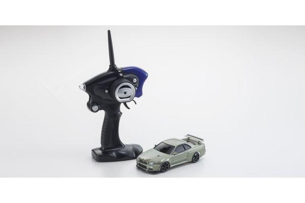 MINI-Z AWD Sports NISSAN SKYLINE GT-R V.Spec Ⅱ Nur (R34) Millennium Jade MA-020S Readyset RTR 32140MJ