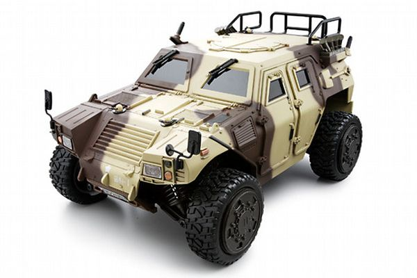 R/C ELECTRIC POWERED 4WD MILITARY VEHICLE HALF8 Ground Self-Defence Force Light Armored Vehicle Desert Camouflage 30123BC