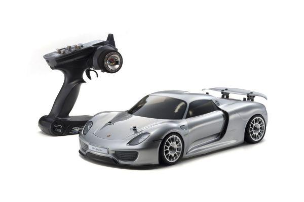 EP FAZER VE PORSCHE 918 Spyder (Silver) 1/10 EP(BL) 4WD Readyset RTR 30917T1