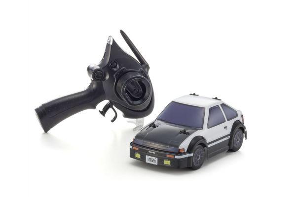 コミックレーサー MB-011+D ASF Toyota SPRINTER TRUENO AE86 レディセット ホワイト/ブラック【ドリフトタイヤセット付属】 32254W