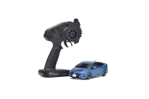 MINI-Z FWD Toyota PRIUS PHV Spirited Aqua Metallic Readyset RTR 32423BL