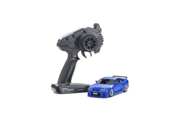 MINI-Z AWD NISSAN SKYLINE GT-R NISMO(R33) Blue Readyset 32616BL