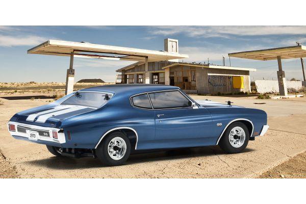 EP FAZER VEi 1970 Chevy® Chevelle® SS™454 LS6 Fathom Blue 1/10 EP(BL) 4WD Readyset RTR 34053T2