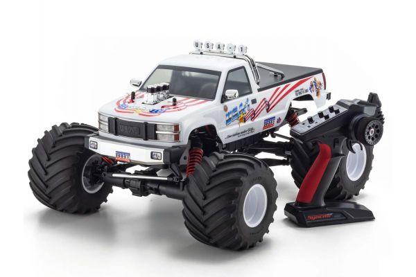 1/8スケール ラジオコントロール ブラシレスモーターパワード 4WDモンスタートラック USA-1 VE レディセット KT-231P+付 34257