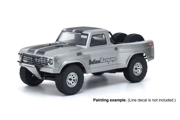 1/10 Scale Radio Controlled Electric Powered 2WD Truck 2RSA SERIES Outlaw Rampage PRO 34362