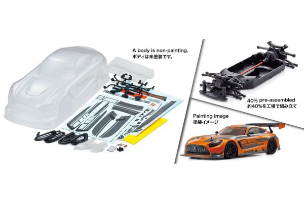 1:10 Scale Radio Controlled Electric Powered 4WD FAZER Mk2 2020 Mercedes-AMG GT3 (FZ02 Chassis Kit) 34441