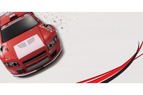 R/C 18 Engine Powered 4WD Rally Car DRX MITSUBISHI LANCER EVOLUTION VII WRC  31046K
