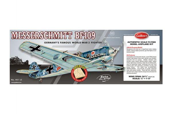 デューマス・エアクラフト ゴム動力プレーンキット メッサーシュミット Bf-109 (Guillow's) 56596