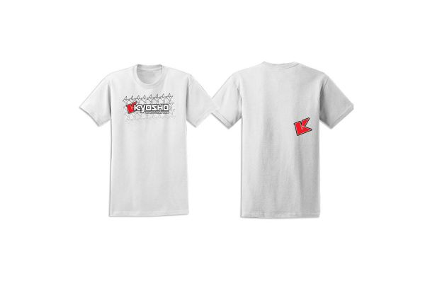 KYOSHO K フェード 2.0 Tシャツ(ホワイト/XL) 88001XL