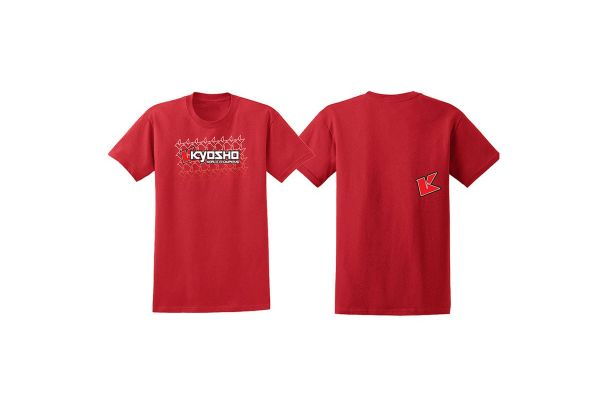 KYOSHO K フェード 2.0 Tシャツ(レッド/XL) 88002XL
