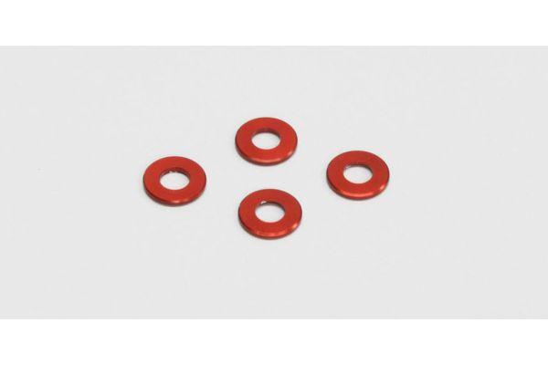 アルミカラー(3x6x0.5mm/レッド/4pcs)  97041-05R