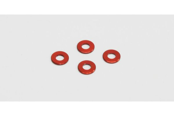 アルミカラー (3x6.5x0.75mm/レッド/4pcs)  97042-075R