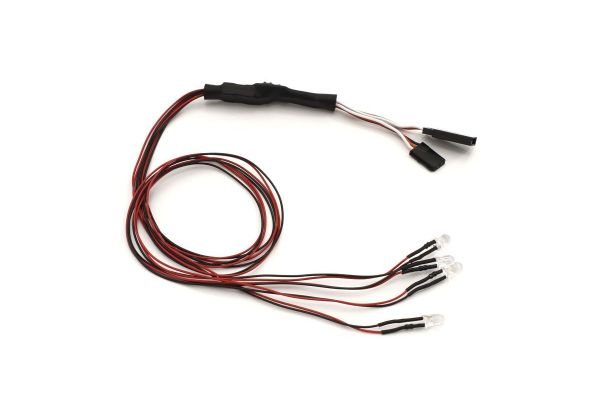 LED LightUnit(Φ5/4Bulbs/L=400/Clear&Red) 97054-4CR