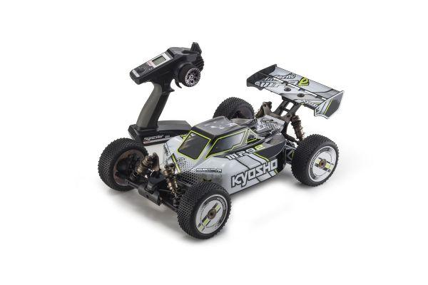 インファーノMP9e TKI カラータイプI : ホワイト/ブラック 1/8 EP 4WD レディセット 30874T1