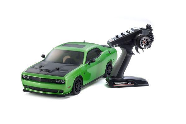 EPフェーザー VEi ダッジ チャレンジャー2015ヘルキャット グリーン 1/10 4WD レディセット 34051T1