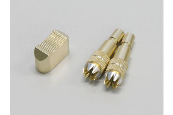 アルミスティック & スイッチキャップ セット (ゴールド)  A0751FS-01G