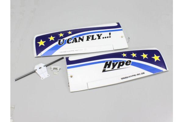 主翼セット ブルー サーボ付(U CAN FLY)  A6551-11BL